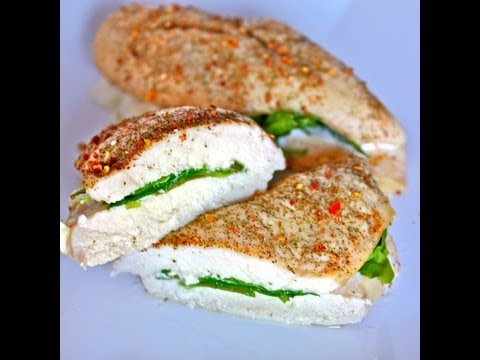 Fat Burning Foods | NO CARB Spinach and Feta Stuffed Chicken Recipe
