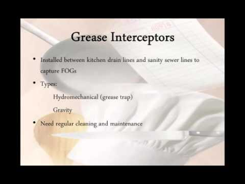 Fats, Oils, and Grease Management for the Food Service Industry