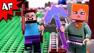 Lego Minecraft: the NEWBs vs the PROs