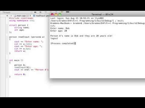 Structure function example (C++ programming tutorial)