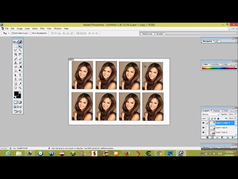 create passport size photos in adobe photoshop 7.0(in one minute very very easy )