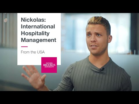 Nickolas, from the USA studying International Hospitality Management
