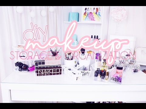 10 DIY Makeup Storage & Organization Ideas ♡