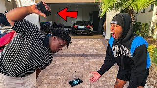 DESTROYING MY FRIENDS PHONE AND SURPRISING HIM WITH A BRAND NEW IPHONE 11!!!!