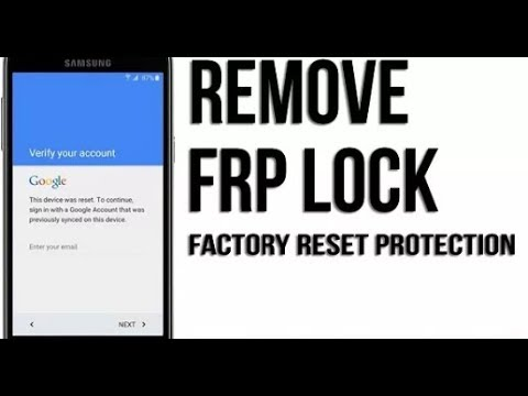 Bypass Factory Reset Protection ( FRP )on Android 2018