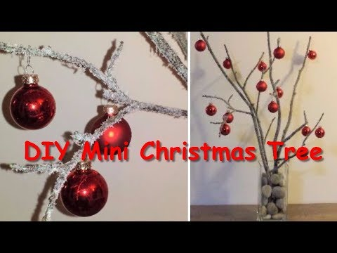 DIY Mini Christmas Tree (Christmas Tree With Just Branches) Unique Christmas Tree Decorating