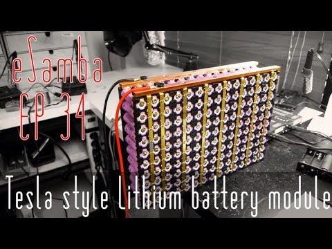 DIY Tesla Car -  lithium ion 18650 battery -  VW Kombi