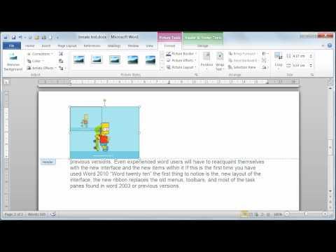 Microsoft Word 2010 Insert Headers and footers  - Tutorial 18