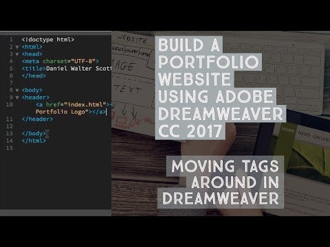Moving tags around in Dreamweaver - Dreamweaver Templates [7/38]
