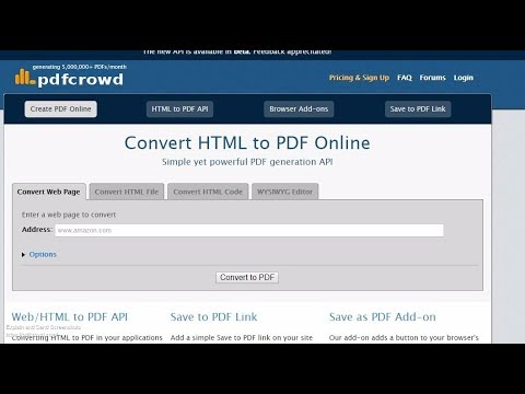 How to Convert HTML to PDF online