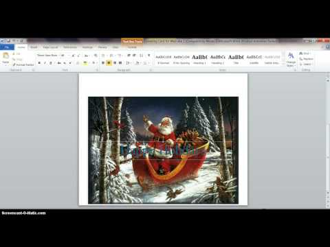 Make a Greeting Card with MS Word