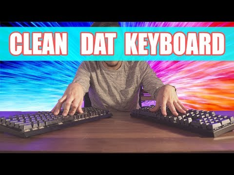 How to Clean your Keyboard !  REMOVE THAT GUNK !