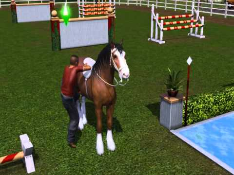 Sims 3 Pets Getting on a Horse