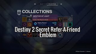 HOW TO GET THE RAREST EMBLEM IN DESTINY 2 - Love To Your Videos