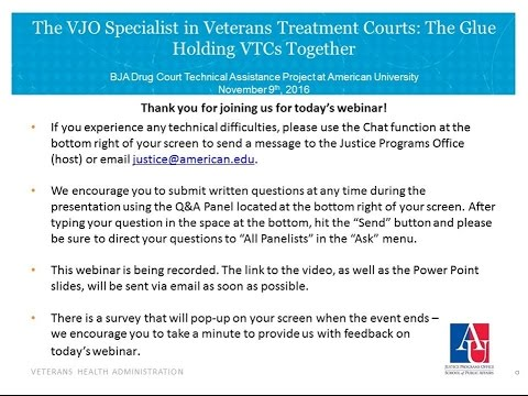 The VJO Specialist in Veterans Treatment Courts