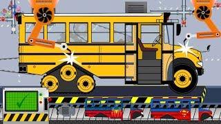 New School Bus Toy Factory | Video For Kids | Nowy Autobus z Fabryki Zabawek