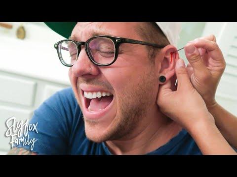 RISKY AT HOME EAR PIERCING! 💉 | Slyfox Family