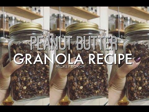 My Favorite Snack - Peanut Butter Granola Recipe