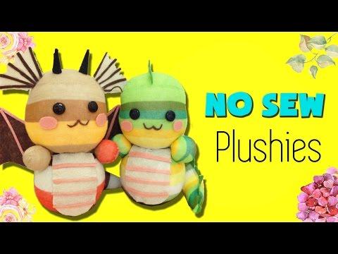 DIY Sock Plushie Doll | How to make Dragon Sock Plush [NO SEW]