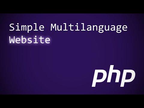 PHP Simple Multilanguage website