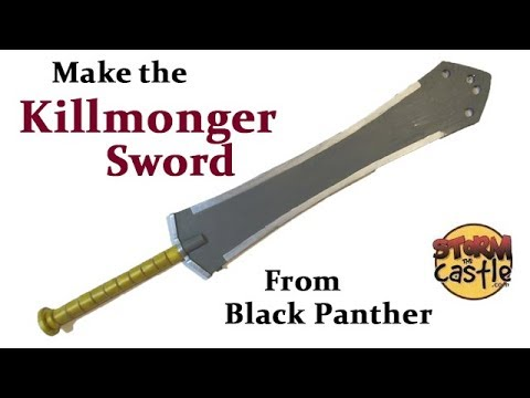 Make the KillMonger Sword from Black Panther
