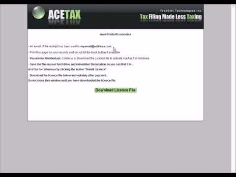 AceTax For Windows OS - Canadian NETFILE Tax Software - Demo