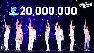 Download BTS becomes the first Korean boy band to have over 20 milllion followers on Twitter Video