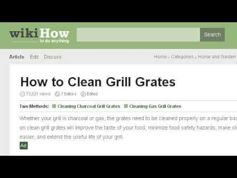 How-To Clean Porcelain Grill Grates
