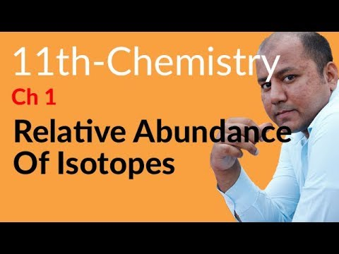 First year Chemistry in Urdu,Relative Abundance of Isotopes-FSC book 1 Chemistry Ch 1 Basic Concepts