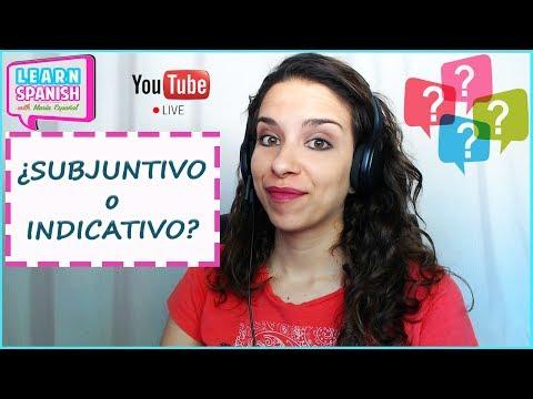 Learn Spanish (Advanced) /Aprender español (Avanzado) [¿INDICATIVO o SUBJUNTIVO?] || María Español