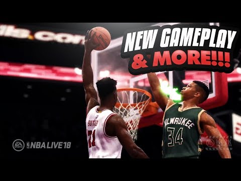 NBA LIVE 18 EXCLUSIVE GAMEPLAY & SCREENSHOTS! My Thoughts New Shoes And Courts