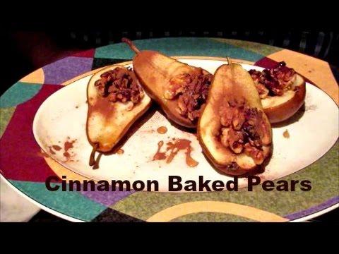 Cinnamon Baked Pears (V)   Joey's World Tour