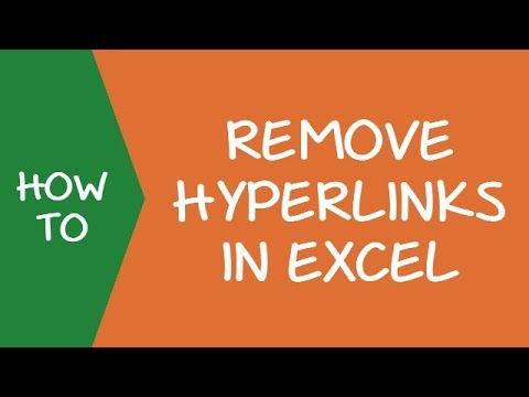How to Quickly Remove Hyperlinks in Excel