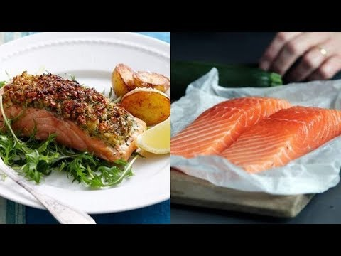 Baked Salmon- Crusted Salmon (With Walnut)