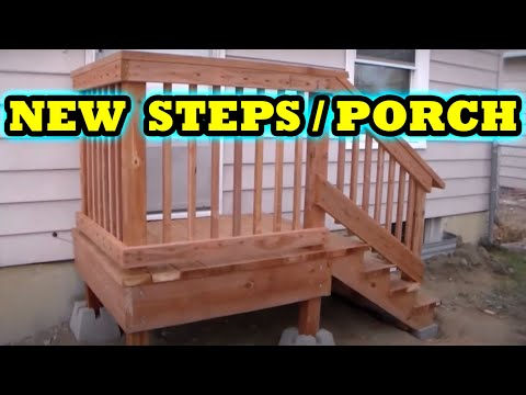 How to build freestanding porch / steps HOME DEPOT DIY