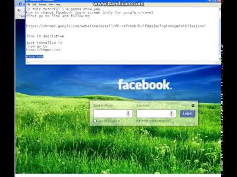 How to change facebook login screen