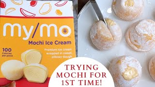 #Shorts   Trying Mochi Ice cream For The First Time   Reaction Video   Mochi Mango Icecream  