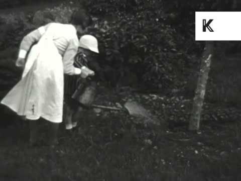 1920s UK Home Movies, Wealthy Family, Maid, Archive Footage