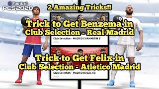 Cara Mendapatkan Felix dan Benzema di Club Selection Madrid!! 2 Trik CS Mantul! PES 2020 Mobile