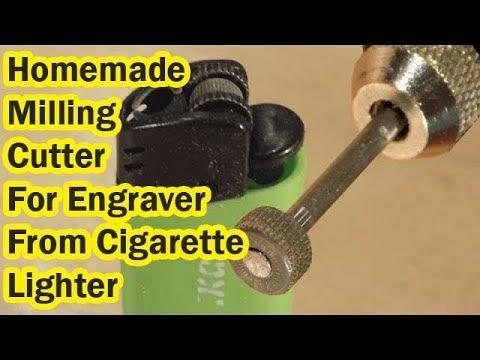 Homemade Milling Cutter  For Engraver From Cigarette Lighter