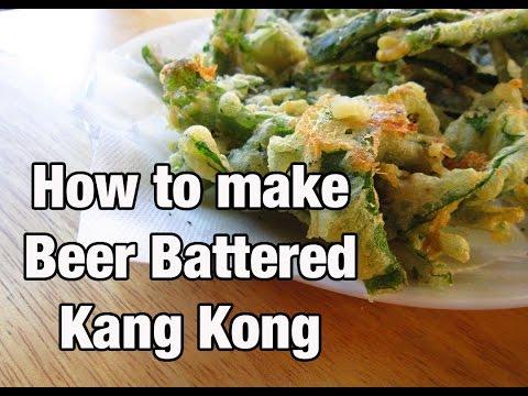 Crispy Crunchy Beer Battered Kang kong