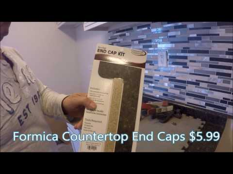 How to Install Formica Countertop End Caps, Vedat USTA