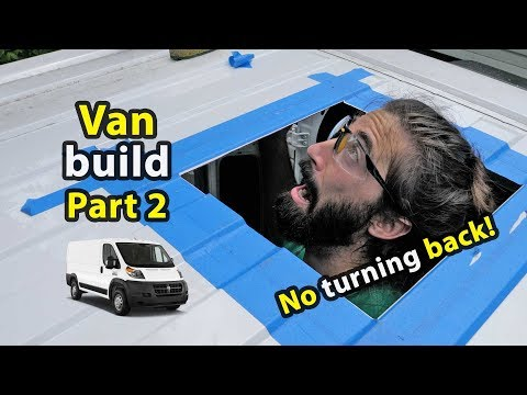 Van build gets interesting | Solar, Fridge, Inverter & Roof Fan Install!