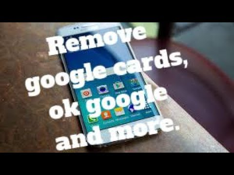 How to Remove google cards from left swipe, right swipe,ok google ! on ANY DEVICE