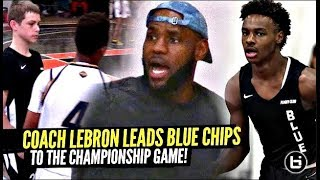 LeBron James COACHES Bronny & Blue Chips To HUGE WIN & Gives Them ADVICE!! Bronny NASTY BLOCK!!
