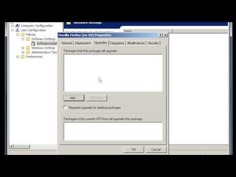 Windows Server 2008: install software through Active Directory's group policy