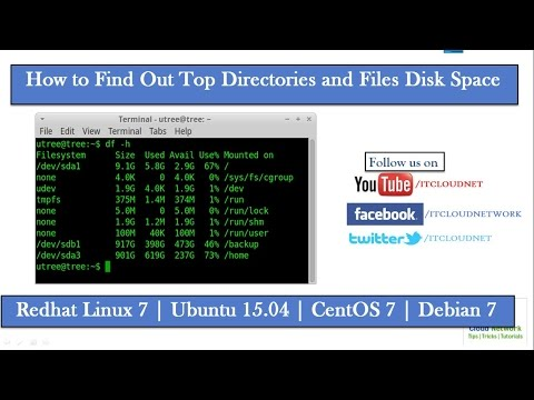 How to Find Out Top Directories and Files Disk Space in Redhat Linux 7 & Ubuntu 15.04