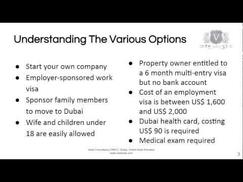 How To Get A Visa And Move Your Family To Dubai