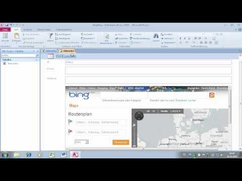 Access 2010 Webdatenbank mit Bing Maps in SharePoint