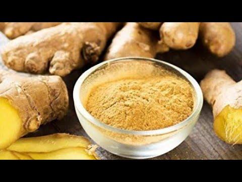 Ginger powder sundried and homemade